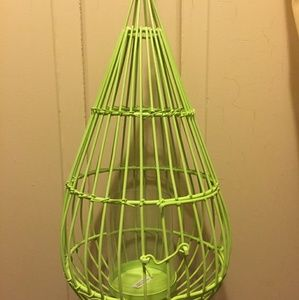 Urban Outfitters Chartreuse Hanging Candle Holder